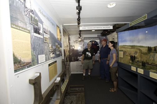 Interior of Caboose Museum